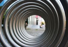 Free Front View Of Large Metal Spiral Stock Image - 56324301