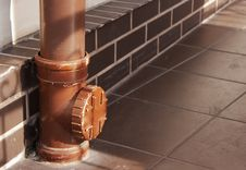 Free Downspout Fragment Closeup Stock Images - 56325924