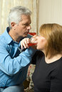 Free A Couple Drinking Wine - Vertical Stock Photography - 5640562