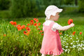 Free Baby With Red Flower Stock Image - 5644431