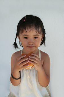 Free Burger Girl Stock Photos - 5640093
