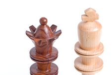 Free Two Chess Pieces Standing Close Up View. Stock Photos - 5640243