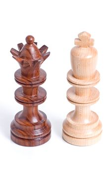 Free Two Chess Pieces Standing Beside Each Other. Royalty Free Stock Photography - 5640247