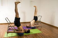 Free Two Men At Yoga - Horizontal Royalty Free Stock Photo - 5640555