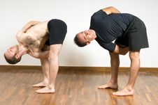 Free Two Men Practicing Yoga - Horizontal Stock Photography - 5640682