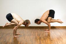 Two Men Balancing - Horizontal Royalty Free Stock Photo