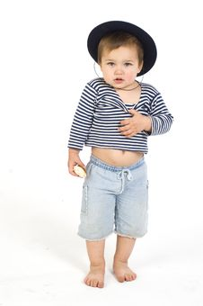 Free Sailor Boy With Cap Stock Photos - 5641473