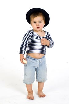 Free Cute Barefoot Sailor Boy Royalty Free Stock Photo - 5641475