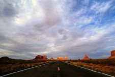 Monument Valley Sunset Royalty Free Stock Photography