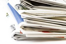 Free Stack Of Newspapers Stock Image - 5643311