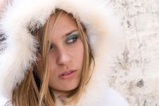 Free Beautiful Woman In Winter With Space To Copy Royalty Free Stock Image - 5643636