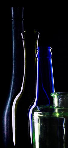 Free Silhouettes Of Bottles Of Wine Stock Photos - 5644663