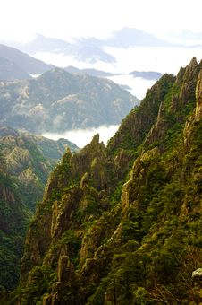 Karst Landform In The Mt. Huangshan China Royalty Free Stock Photo