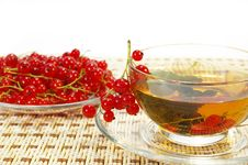 Free Currant And Herbal Tea In A Cup Stock Photo - 5645040