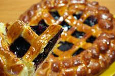 Bilberry Pie Royalty Free Stock Photography