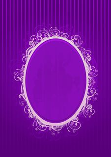 Vector Illustration Of A Violet Frame Royalty Free Stock Photos