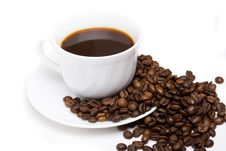 Free The Cup Of Coffee And Beans 9 Royalty Free Stock Photos - 5645878