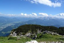 Sight From The Peak Of Untersberg . Royalty Free Stock Photo