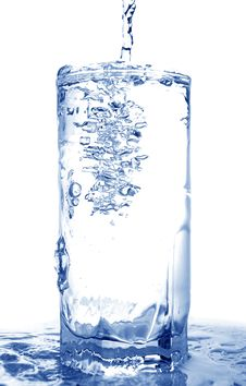 Free Water Poured Into Glass Royalty Free Stock Photography - 5645987