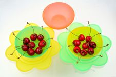 Free Cherries In Bowls Stock Photos - 5646203