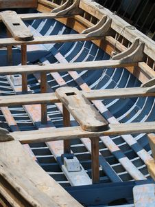 Island Of Crete - Old Boat Close-up Royalty Free Stock Images
