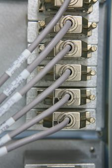 Free Network Connections Going Into Rack Stock Photos - 5647003