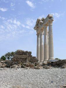 Free Turkey, Side - Apollo Temple Stock Photos - 5647983