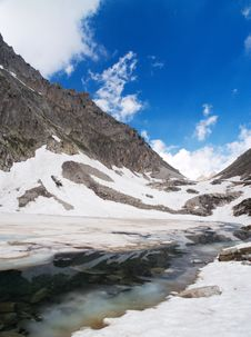 Icy Mountain Lake Stock Photos