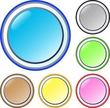 Free Set Of Round Buttons Stock Images - 5648824