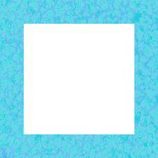 Blue Leaf Neon Frame Royalty Free Stock Image