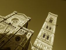 Free Monochrome Of Florence S Cathedral Stock Photography - 5649602