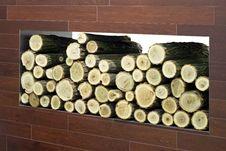 Firewood Log Stock Photo