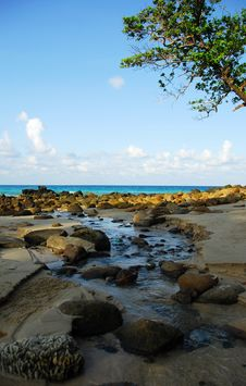 Morning Of Phuket Meridien Beach Royalty Free Stock Photography