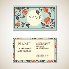 Free Elegant Card With Decorative Asian Flowers Stock Photo - 56419510