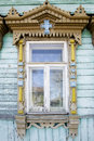 Free Wooden Decoration On Traditional Russian Window Royalty Free Stock Image - 5651766