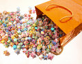 Free Paper Stars Spill Orange Box Royalty Free Stock Photos - 5658328
