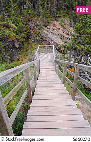 Free Wood Path To A Viewpoint Stock Photo - 5650270