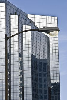 Free Corporate Buildings With Street Lamp Royalty Free Stock Photos - 5650388