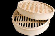 Free Bamboo Steamer Clipping Path. Stock Photo - 5650430
