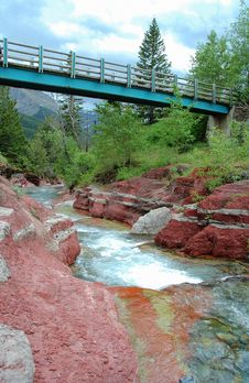 A Bridge Over The Red Rock Canyon Royalty Free Stock Photo
