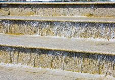 The Water Running On Steps Royalty Free Stock Image