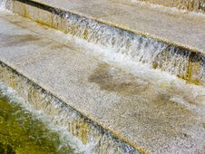 The Water Running On Steps Stock Photography