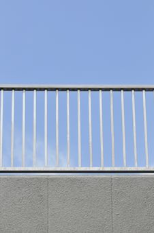 Free Simple Railing Against Clear Blue Sky Royalty Free Stock Photos - 5650788