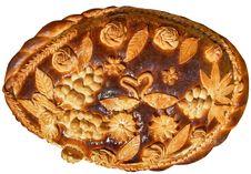 Isolated Ukrainian Festive Bakery Holiday Bread 6 Stock Photo