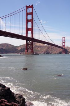 Free Golden Gate Bridge From Fort Point Royalty Free Stock Photography - 5651097