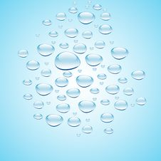 Blue Water With Bubbles Stock Photography
