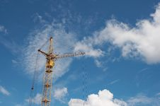 Free Lifting Construction Crane At Blue Sky 1 Stock Photo - 5651540