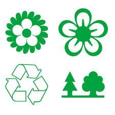 Free Set Of Green Environmental Icons Stock Photo - 5651730