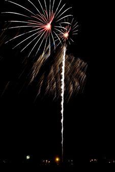 Beautiful Fireworks. Stock Photos