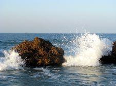 Splashing Wave At The Seaside Stock Photography